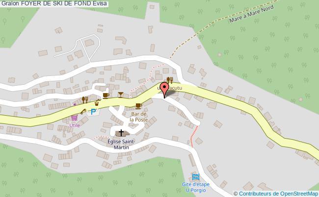 plan Foyer De Ski De Fond Evisa