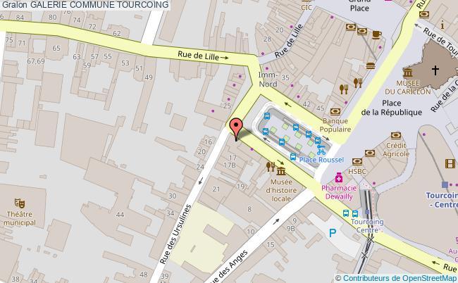 plan association Galerie Commune Tourcoing TOURCOING