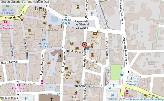 plan association Galerie D'art Municipale Dax Dax