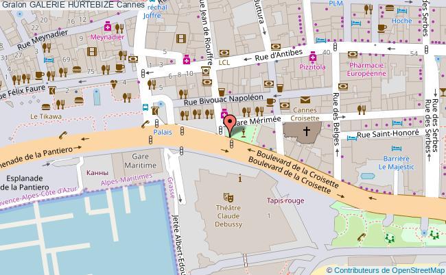 plan Galerie Hurtebize Cannes