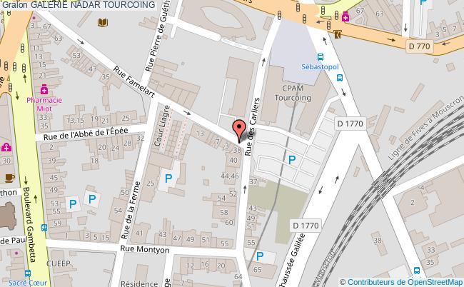 plan association Galerie Nadar Tourcoing TOURCOING