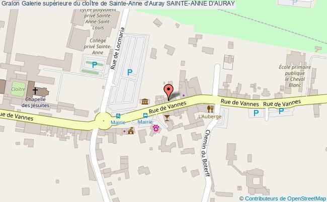 plan Galerie Supérieure Du Cloître De Sainte-anne D'auray Sainte-anne D'auray