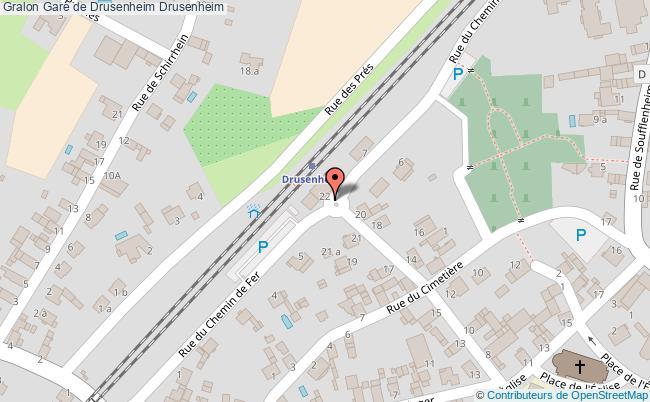 plan Gare De Drusenheim Drusenheim