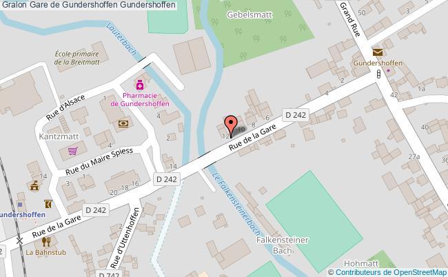 plan Gare De Gundershoffen Gundershoffen