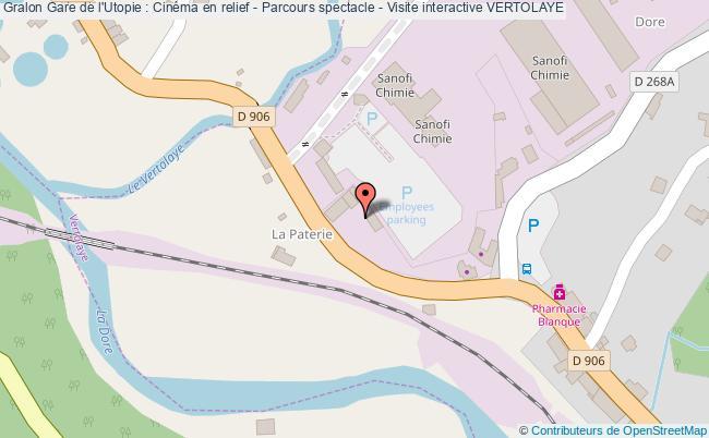 plan Gare De L'utopie : Cinéma En Relief - Parcours Spectacle - Visite Interactive Vertolaye