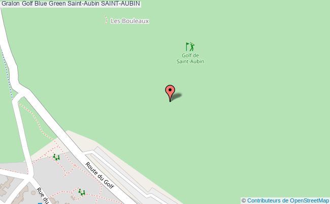 plan Golf Blue Green Saint-aubin Saint-aubin