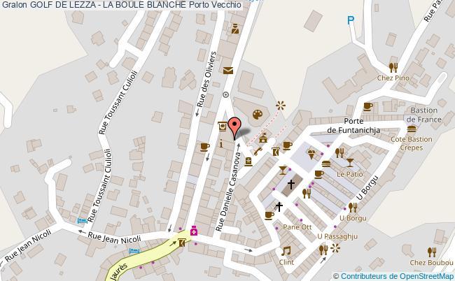 plan Golf De Lezza - La Boule Blanche Porto Vecchio