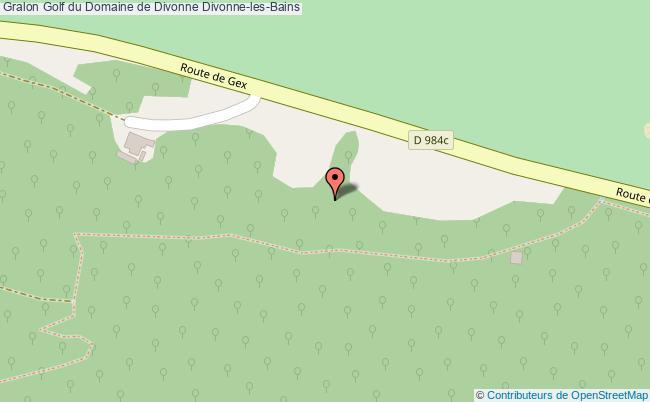 plan Golf Du Domaine De Divonne Divonne-les-bains