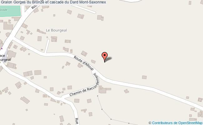 plan association Gorges Du Bronze Et Cascade Du Dard Mont-saxonnex Mont-Saxonnex
