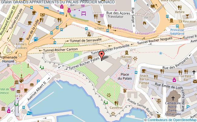 plan Grands Appartements Du Palais Princier Monaco