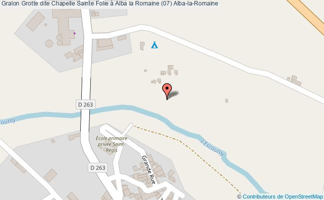 plan Grotte Dite Chapelle Sainte Folie à Alba La Romaine (07) Alba-la-romaine