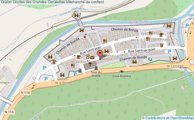 plan Grottes Des Grandes Canalettes Villefranche-de-conflent