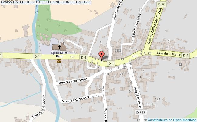 plan Halle De Conde En Brie Conde-en-brie