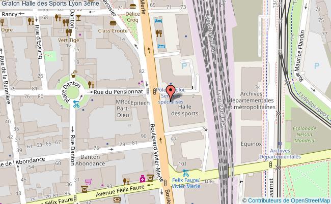 plan Halle Des Sports Lyon 3ème