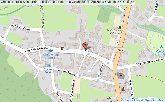 plan Hospice Saint-jean-baptiste, Puis Centre De Vacances De L'arbizon à Guchen (65) Guchen