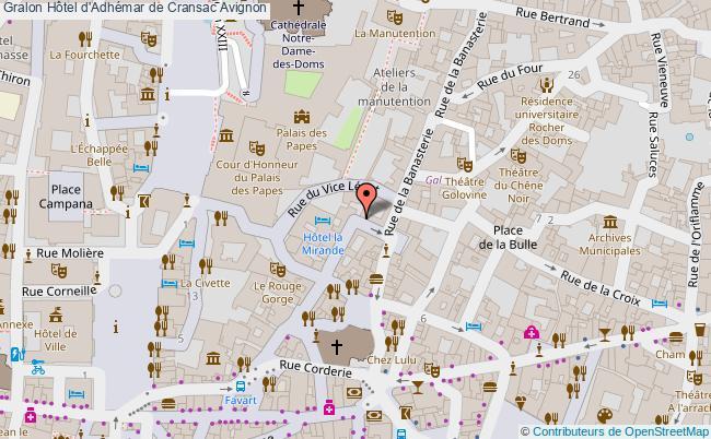 plan Hôtel D'adhémar De Cransac Avignon