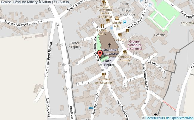 plan Hôtel De Millery à Autun (71) Autun
