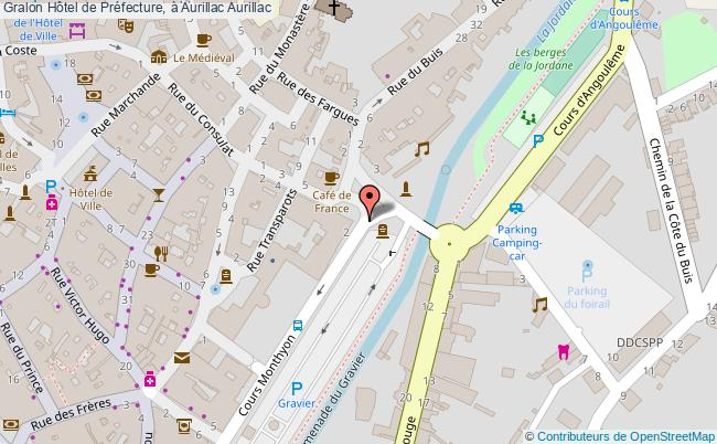 plan Hôtel De Préfecture, à Aurillac Aurillac