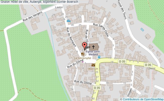 plan Hôtel De Ville, Auberge, Logement Ouvrier Boersch