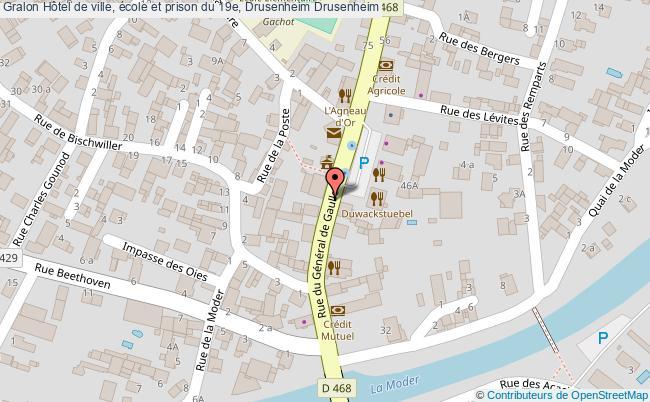 plan Hôtel De Ville, école Et Prison Du 19e, Drusenheim Drusenheim