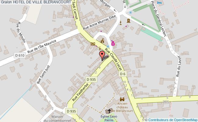 plan Hotel De Ville Blerancourt