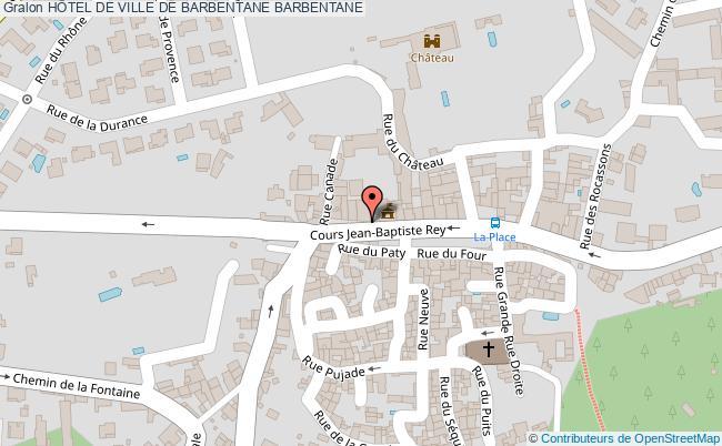 plan HÔtel De Ville De Barbentane Barbentane