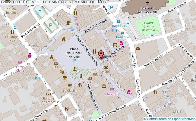 plan association Hotel De Ville De Saint Quentin Saint-quentin SAINT-QUENTIN