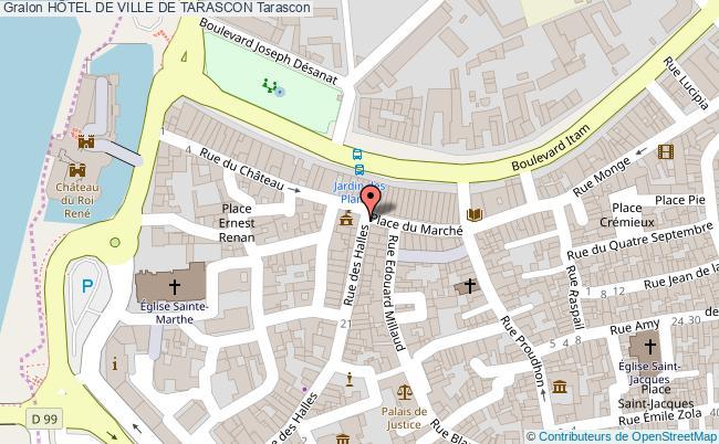 plan HÔtel De Ville De Tarascon Tarascon
