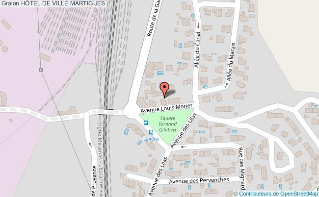 plan HÔtel De Ville Martigues