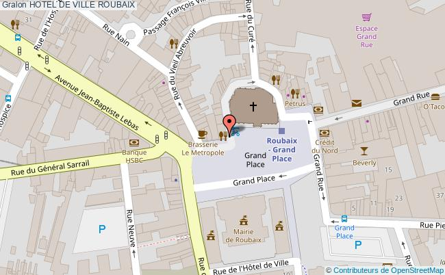 plan association Hotel De Ville Roubaix ROUBAIX