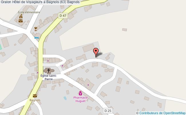 plan Hôtel De Voyageurs à Bagnols (63) Bagnols