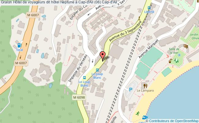 plan Hôtel De Voyageurs Dit Hôtel Neptune à Cap-d'ail (06) Cap-d'ail