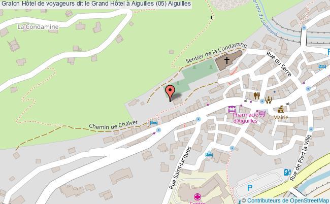 plan Hôtel De Voyageurs Dit Le Grand Hôtel à Aiguilles (05) Aiguilles