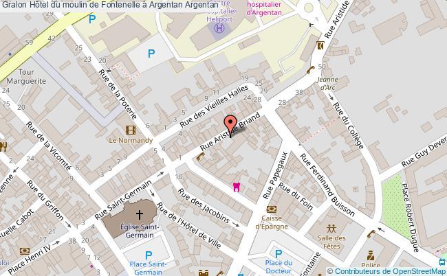 plan association Hôtel Du Moulin De Fontenelle à Argentan Argentan Argentan