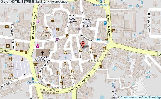 plan HÔtel Estrine Saint Rémy De Provence