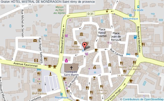 plan HÔtel Mistral De Mondragon Saint Rémy De Provence