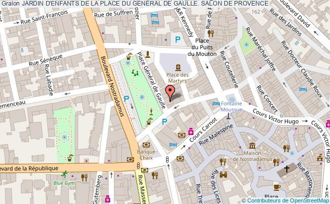 plan Jardin D'enfants De La Place Du GÉnÉral De Gaulle. Salon De Provence