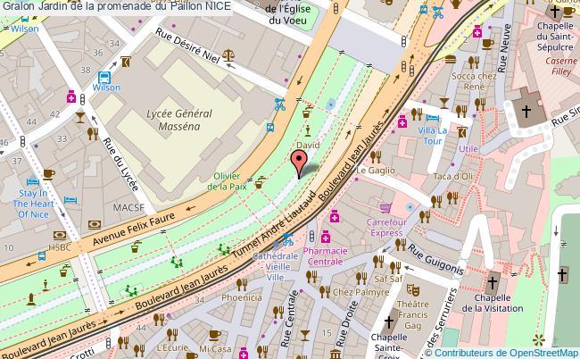plan Jardin De La Promenade Du Paillon Nice
