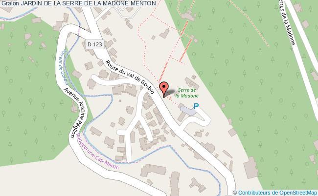 plan Jardin De La Serre De La Madone Menton