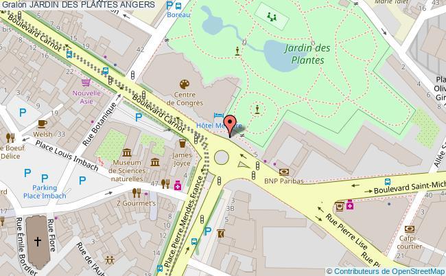 plan Jardin Des Plantes Angers
