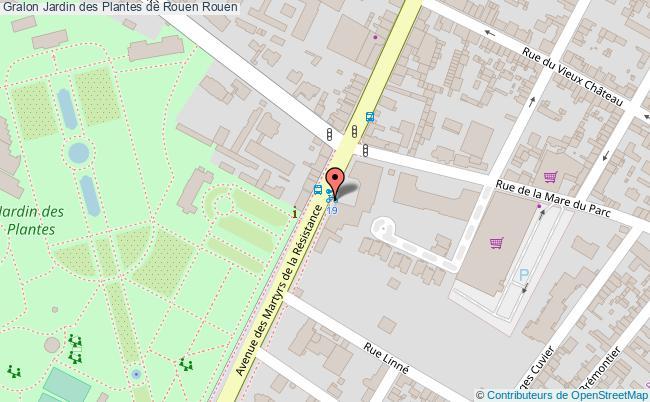 plan Jardin Des Plantes De Rouen Rouen