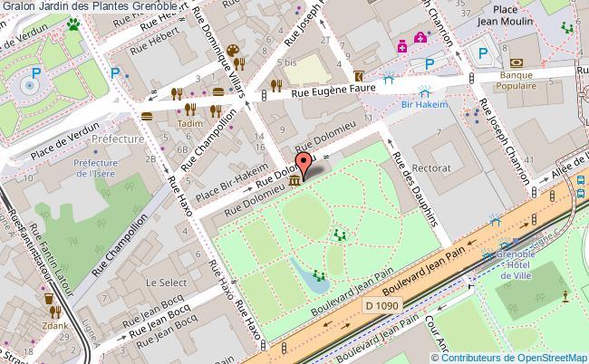 plan Jardin Des Plantes Grenoble