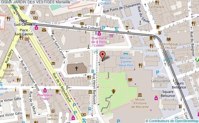 plan Jardin Des Vestiges Marseille