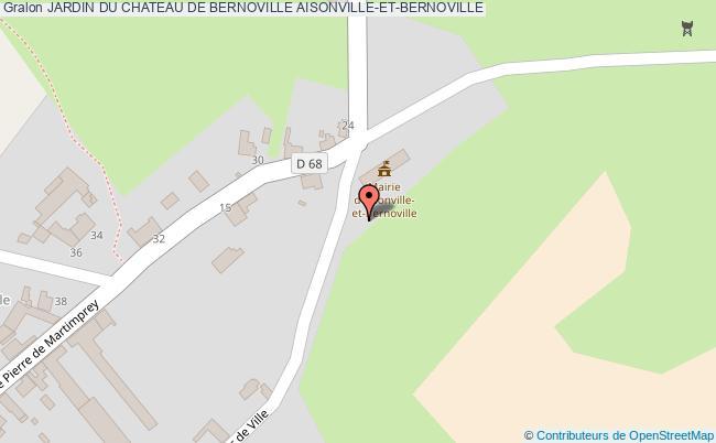 plan association Jardin Du Chateau De Bernoville Aisonville-et-bernoville AISONVILLE-ET-BERNOVILLE