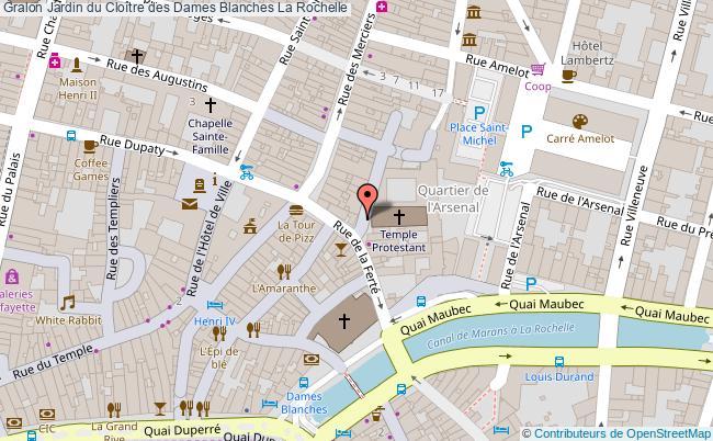 plan association Jardin Du Cloître Des Dames Blanches La Rochelle La Rochelle