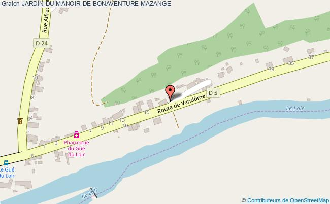 plan Jardin Du Manoir De Bonaventure Mazange