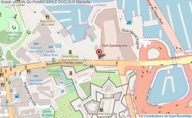 plan Jardin Du Pharo-emile Duclaux Marseille