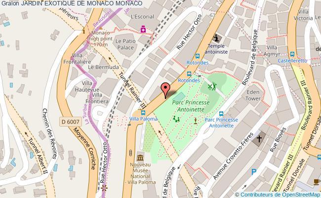 plan Jardin Exotique De Monaco Monaco