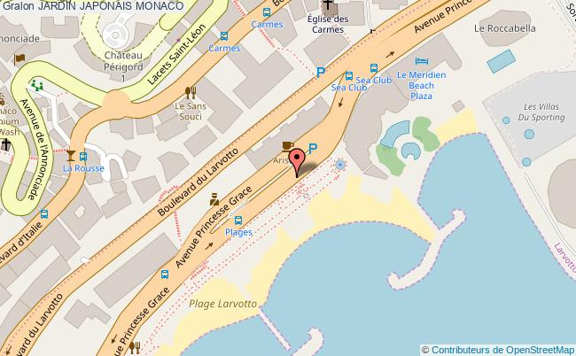 plan Jardin Japonais Monaco