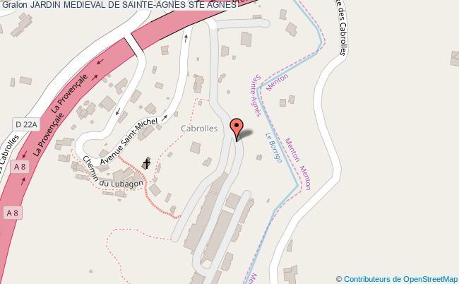 plan Jardin Medieval De Sainte-agnes Ste Agnes